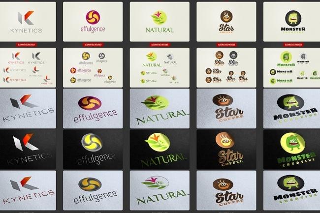 Огромный набор редактируемых шаблонов для логотипов 1 - kwork.ru