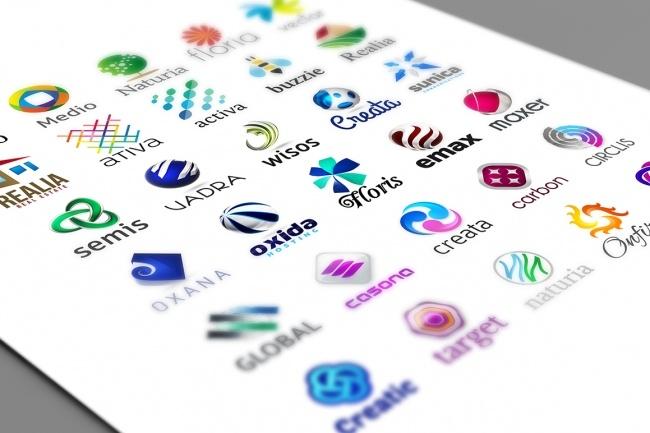 Огромный набор редактируемых шаблонов для логотипов 3 - kwork.ru