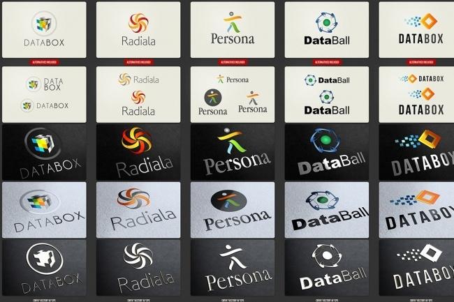 Огромный набор редактируемых шаблонов для логотипов 4 - kwork.ru