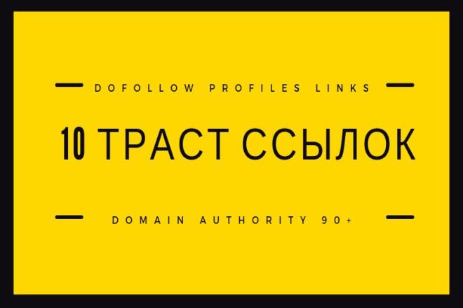 10 трастовых SEO ссылок на ваш зарубежный сайт 1 - kwork.ru