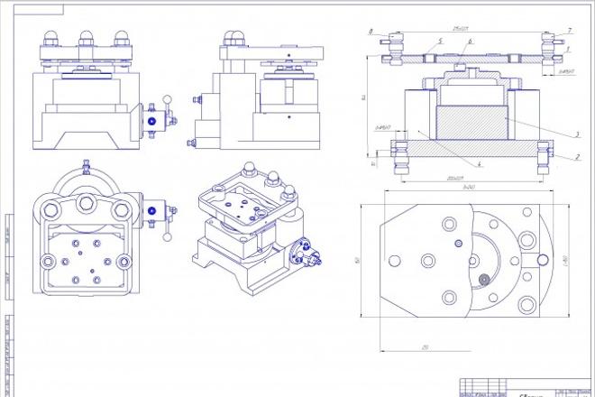 Оформлю чертеж любой сложности 3 - kwork.ru
