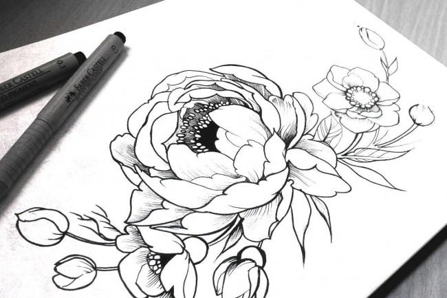 Нарисую рисунок или эскиз в ручной технике красиво и быстро 32 - kwork.ru