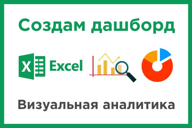 Создам дашборд в Excel - визуальная аналитика 1 - kwork.ru