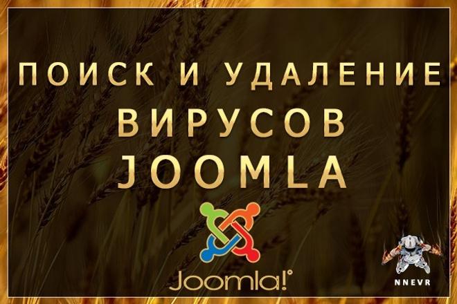 Поиск и удаление вирусов на сайтах Joomla 1 - kwork.ru