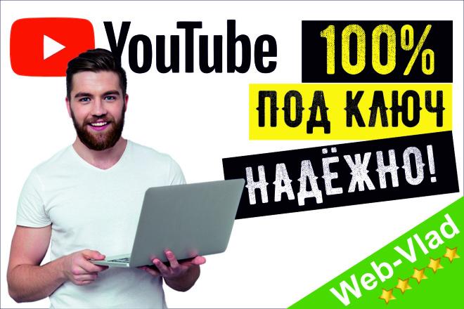 Создание YouTube канала Под Ключ. Настройка. Дизайн. Оптимизация Ютуб 1 - kwork.ru