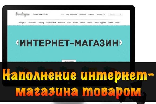 Наполнение интернет-магазина товаром, сайта контентом 1 - kwork.ru