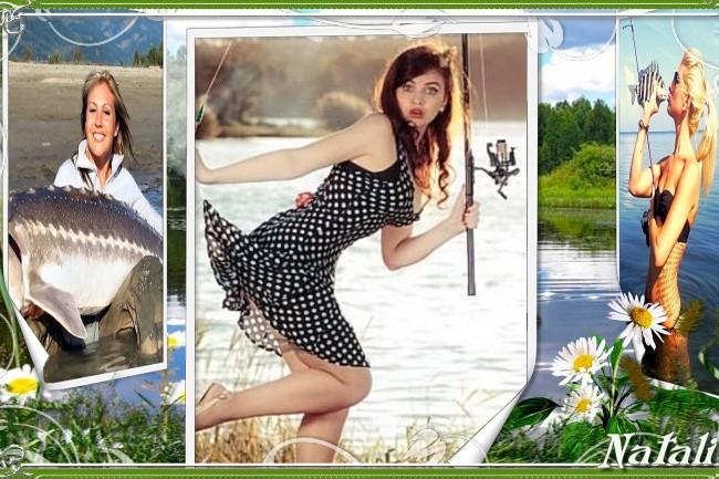 Оригинальное слайд-шоу для летних фотографий На рыбалке 2 - kwork.ru