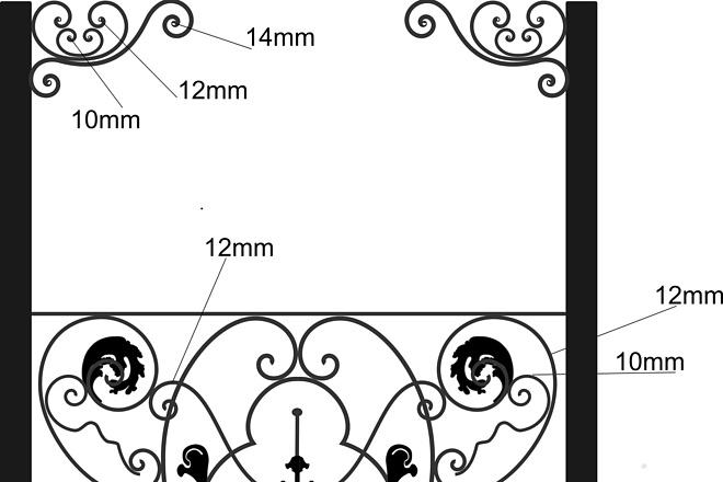 Сделаю 3d модель кованных лестниц, оград, перил, решеток, навесов 27 - kwork.ru