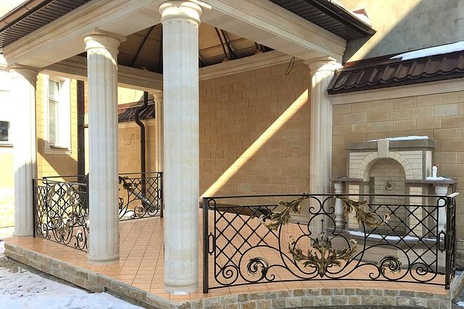 Сделаю 3d модель кованных лестниц, оград, перил, решеток, навесов 29 - kwork.ru
