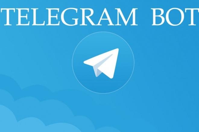 Создание, разработка, написание бота для telegram. ORG на PHP 1 - kwork.ru