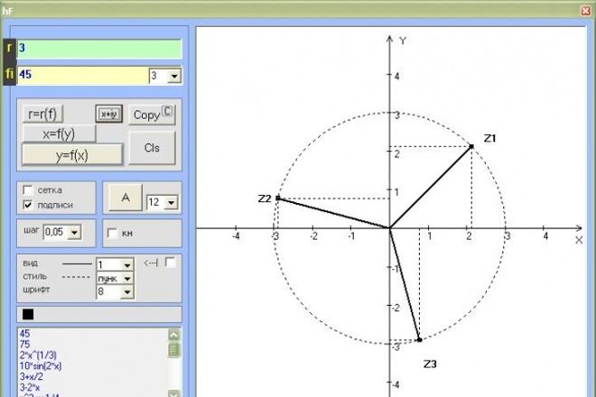 Программка построения графиков 2D 1 - kwork.ru
