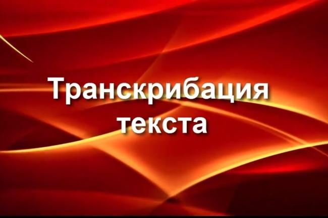 Сделаю транскрибацию, перевод аудио в текст 1 - kwork.ru