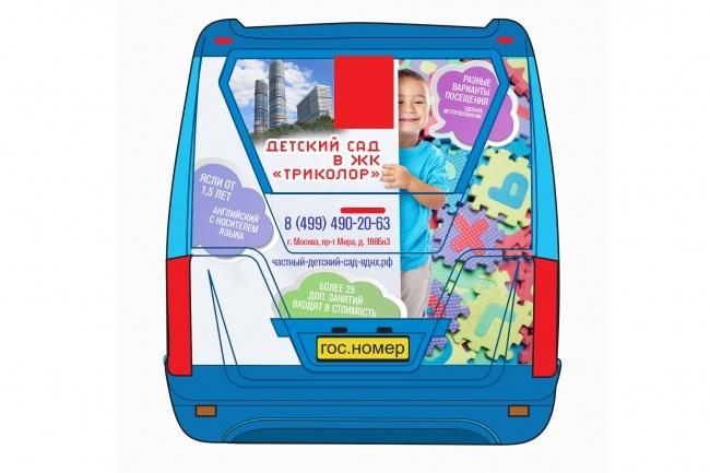 Эскиз наклейки на автомобиль 8 - kwork.ru