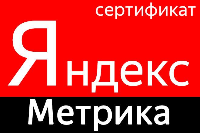 Сертификат Яндекс Метрика за час. Обучение в сдаче теста 1 - kwork.ru