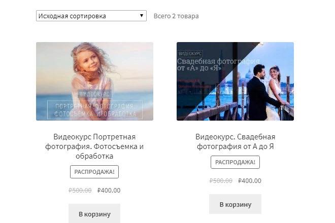 Создание онлайн магазина WooCommerce на движке WordPress 1 - kwork.ru