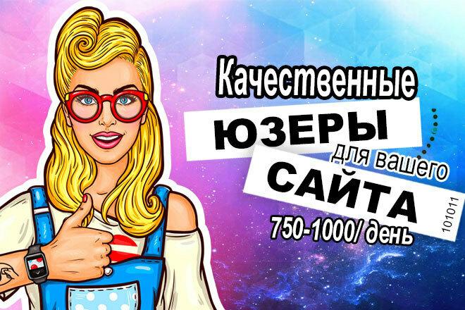 750-1000 посетителей в течение 50 дней 1 - kwork.ru