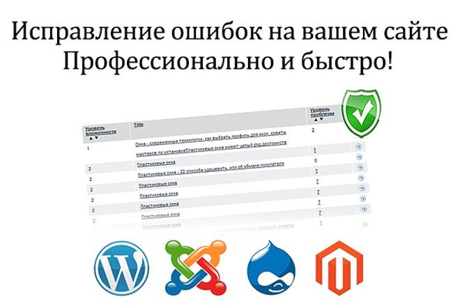 Исправлю одну ошибку или сделаю одну задачу на вашем сайте 1 - kwork.ru