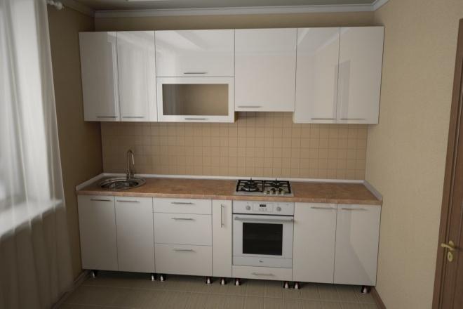 Визуализация мебели, предметная, в интерьере 86 - kwork.ru