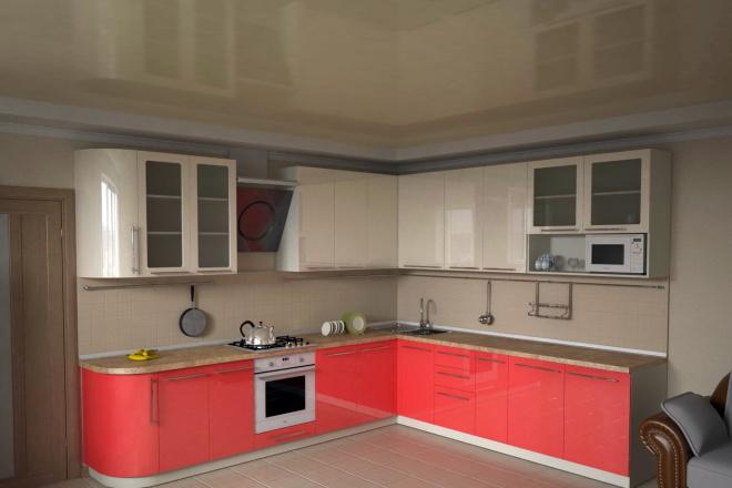 Визуализация мебели, предметная, в интерьере 75 - kwork.ru