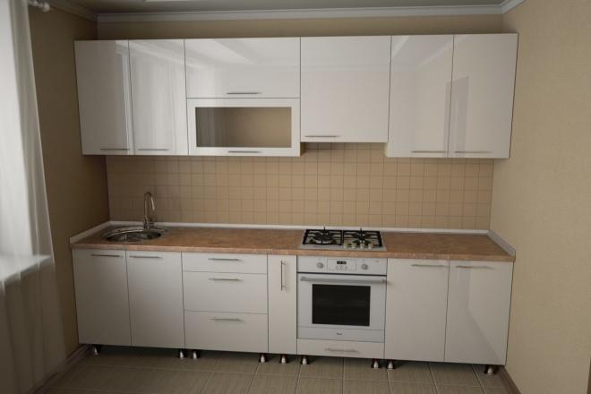 Визуализация мебели, предметная, в интерьере 83 - kwork.ru