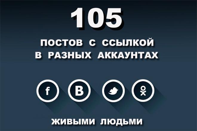 105 ссылок на сайт из Vk FB TW OK. Только живыми людьми и вручную 1 - kwork.ru