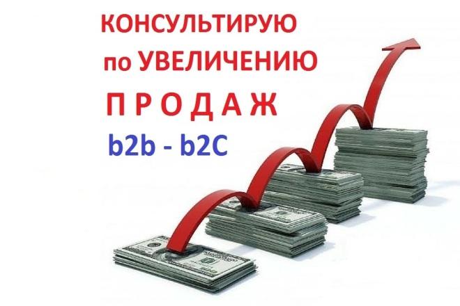 Консультирую по увеличению продаж 1 - kwork.ru