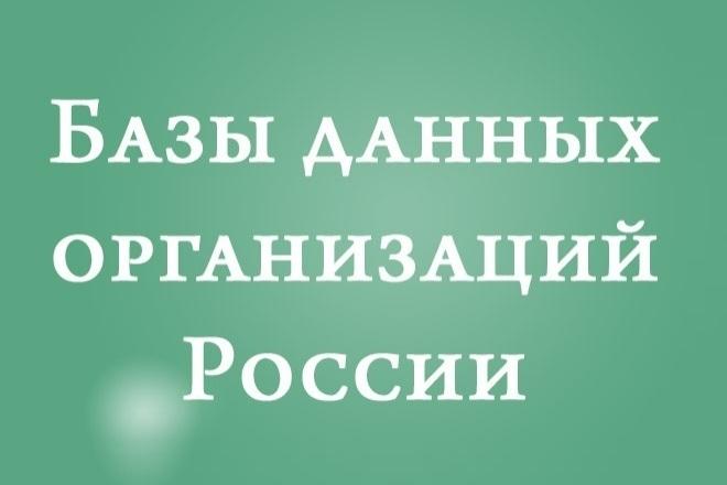 База организации РФ 1 - kwork.ru