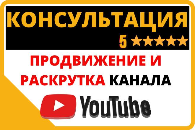Консультация по Youtube. Вопросы продвижения, настройки, ошибки 1 - kwork.ru