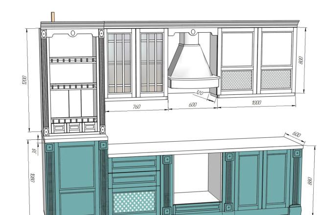 Проект корпусной мебели, кухни. Визуализация мебели 65 - kwork.ru