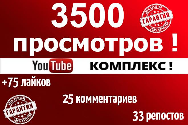 3500 просмотров+75 лайков+25 комментариев, +33 репостов 1 - kwork.ru