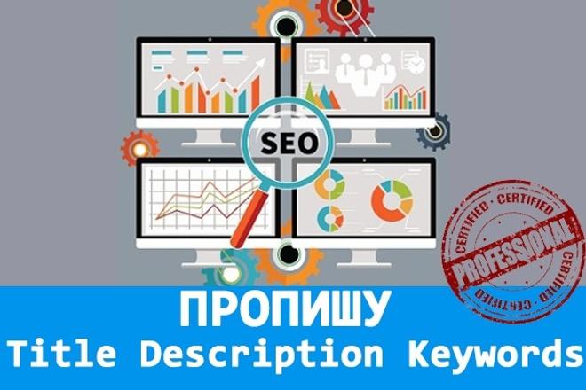 Пропишу Title, Description, Keywords 10 страниц 1 - kwork.ru