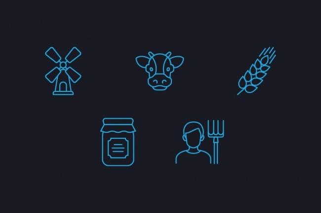 Создание иконок для сайта, приложения 66 - kwork.ru