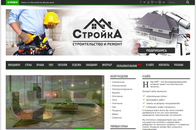 Продам готовый строительный сайт с доменом на WordPress под ключ. н2 1 - kwork.ru