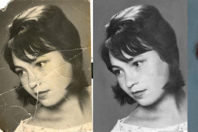 Реставрация и раскрашивание старых фотографий 6 - kwork.ru