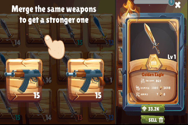 Исходник игры Merge Hit Weapons Unity 3d 2 - kwork.ru