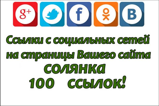 100 ссылок на страницы Вашего сайта с соц. сетей 1 - kwork.ru