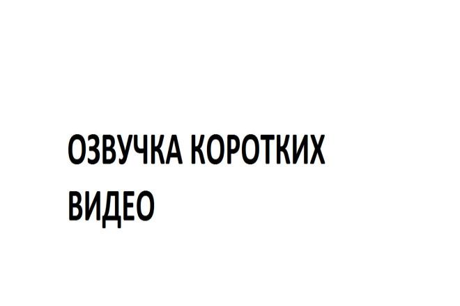 Озвучка коротких видео 1 - kwork.ru