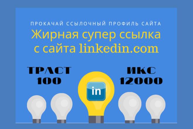 Размещу пост со ссылкой на ваш сайт в сети Linkedin 1 - kwork.ru