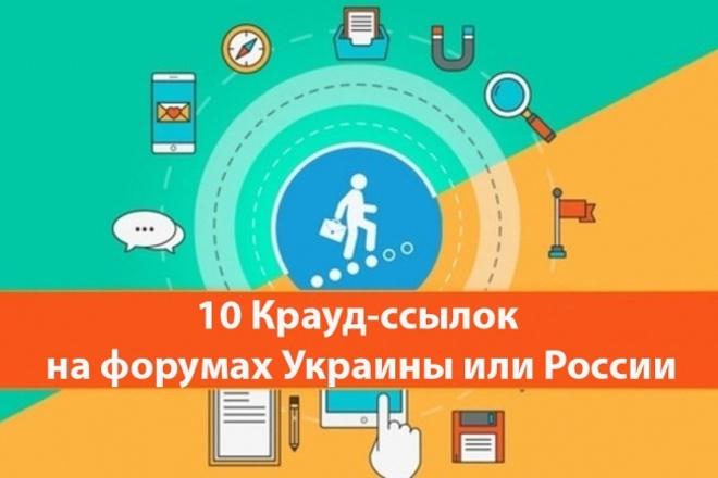 Крауд - ссылки с форумов России или Украины 1 - kwork.ru