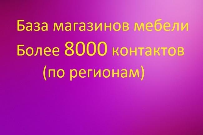 База магазинов мебели 1000 контактов, собранных вручную 1 - kwork.ru