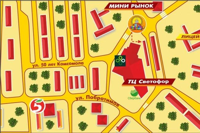 Карты и схемы проезда 19 - kwork.ru