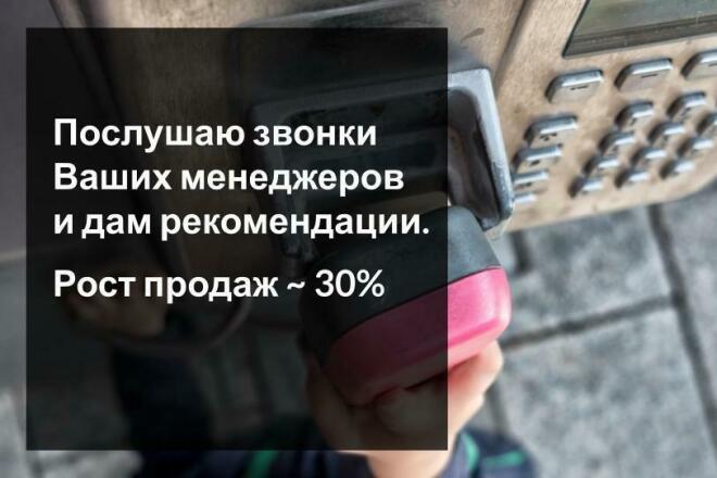 Прослушаю звонки Ваших менеджеров и дам рекомендации 1 - kwork.ru