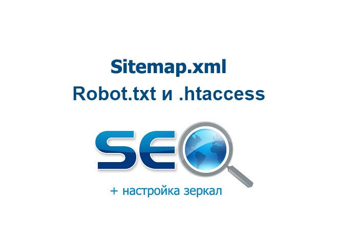 Robots.txt . htaccess sitemap.xml и зеркала сайта 1 - kwork.ru
