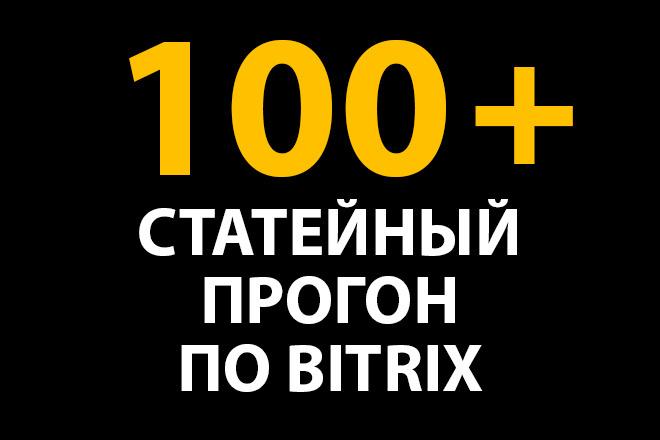 Статейный прогон по Bitrix. Ссылки на Ваш сайт из статей 1 - kwork.ru