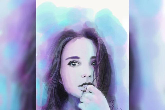 Нарисую ваш портрет в цифровом формате 2 - kwork.ru