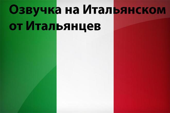 Организую озвучку на итальянском от итальянцев 1 - kwork.ru