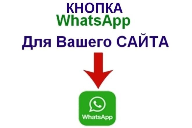 Кнопка WhatsApp на Ваш сайт 1 - kwork.ru