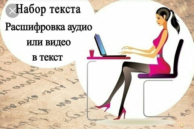 Переведу любой аудио или видео файл в текст 1 - kwork.ru