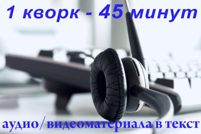 Переведу 45 минут аудио или видео в текст. Грамотно и быстро 1 - kwork.ru