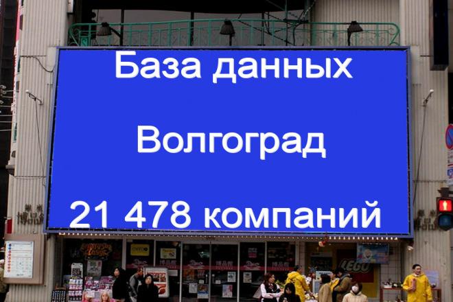 База данных компаний Волгограда 21478 контактов 1 - kwork.ru